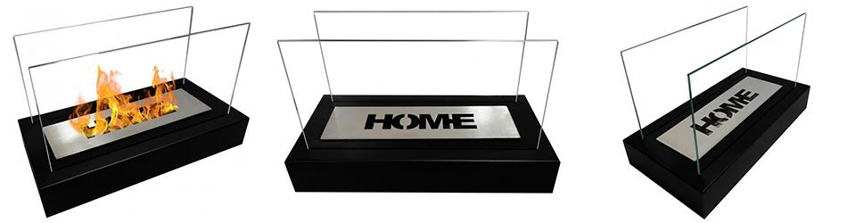biokominek HOME czarny