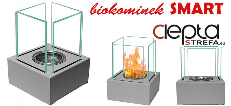 biokominki - biokominek SZARY