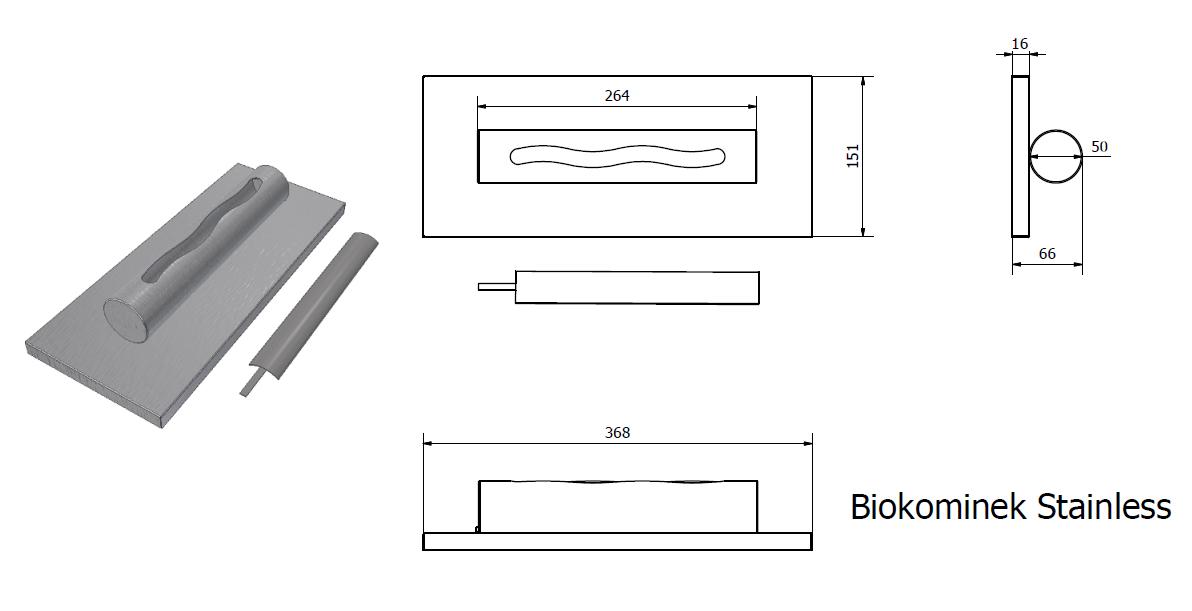 biokominki wymiary