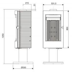 Podstawa pod wkłady kominkowe Ref. S-700 S-700