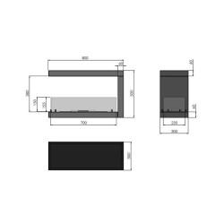 Atika Steel czarna - Thorma 7,5 kW