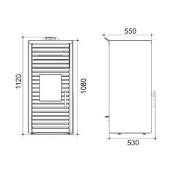 kratka LUFT 60x6cm - grafit