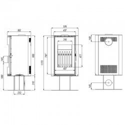 kratka LUFT 80x6cm - inox