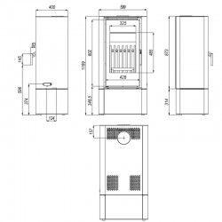 piecyk Defro SOLUM LOG - 9 kW