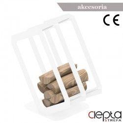 Stojak na drewno P3 biały mat