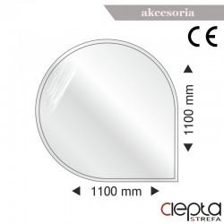 Podstawa szklana okrągła-narożna 1100x1100x6mm