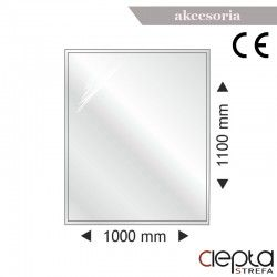 Podstawa szklana prostokątna 1000x1100x6mm