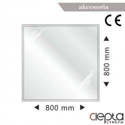 Podstawa szklana kwadratowa 800x800x6mm