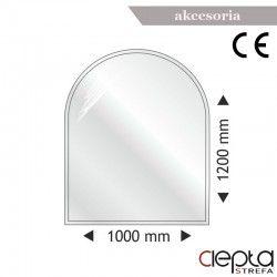 Podstawa szklana półokrągła 1000x1200x8mm