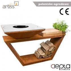 Palenisko-grill ogrodowy Artiss G4 corten ref. 2605-04