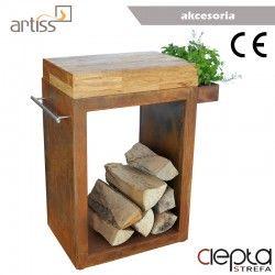 Stolik Artiss mały 60x45x91cm corten