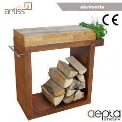 Stolik Artiss duży 80x45x91cm corten