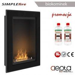 SIMPLEfire FRAME 550 czarny z szybą