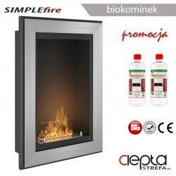 biokominek SIMPLEfire FRAME 550 inox z szybą