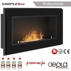 biokominek SIMPLEfire FRAME 900 czarny z szybą
