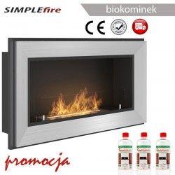 biokominek SIMPLEfire FRAME 900 inox z szybą