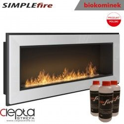 biokominek SIMPLEfire FRAME 1200 biały