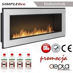 biokominek SIMPLEfire FRAME 1200 biały z szybą