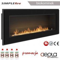 biokominek SIMPLEfire FRAME 1200 czarny z szybą