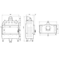 grill węglowy wahadłowy na trójnogu LA0542 -