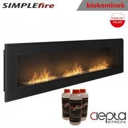 biokominek SIMPLEfire FRAME 1800 czarny