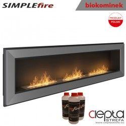 biokominek SIMPLEfire FRAME 1800 inox