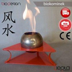 biokominek FENG SHUI - Sfera czerwony - biokominek wolnostojący