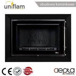 Rama dekoracyjna czarny mat do wkładu UNIFLAM 920 PRESTIGE ref. R-UNIP920-CZ