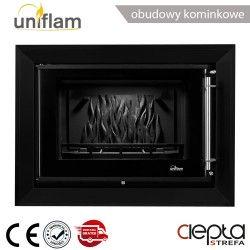 Rama dekoracyjna czarny mat do wkładu UNIFLAM 720 PRESTIGE ref. R-UNIP720-CZ