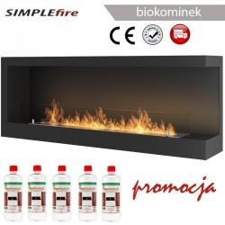 biokominek SIMPLEfire Corner 1200 R z szybą